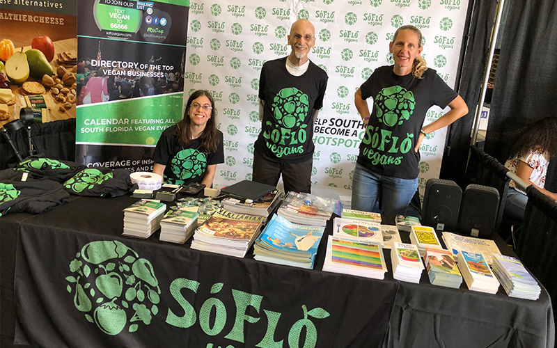 SoFlo Vegans team at Vegfest 2017.