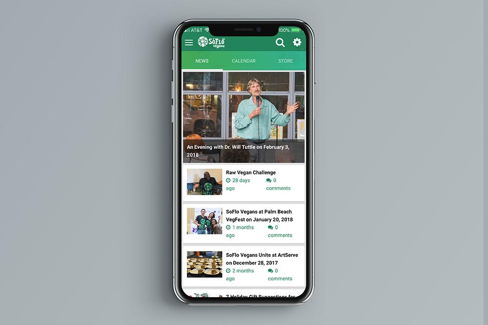 SoFlo Vegans Mobile App